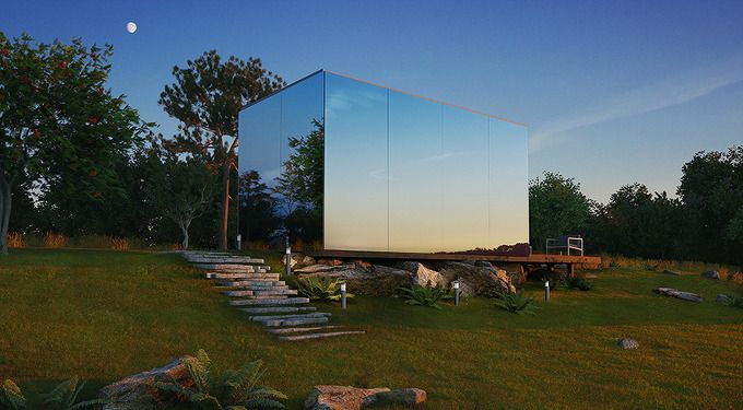 *주말주택 ÖÖD mirrored unit is a short-term mini dwelling :: 5osA: [오사]