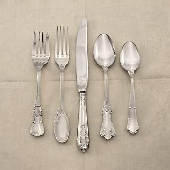 """Wallace """"Hotel Luxe"""" Continental Stainless Flatware Set"""
