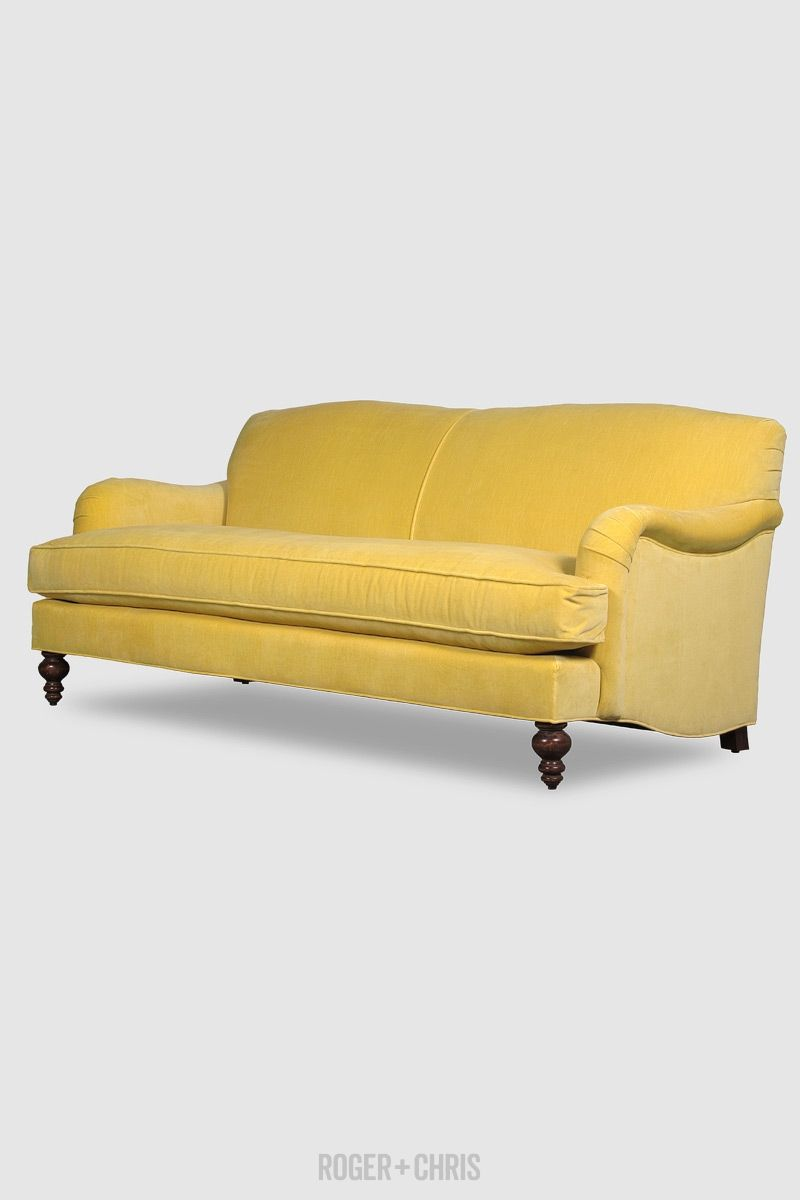 Basel Sofa In Porto Turmeric Velvet Fabric Roger Chris