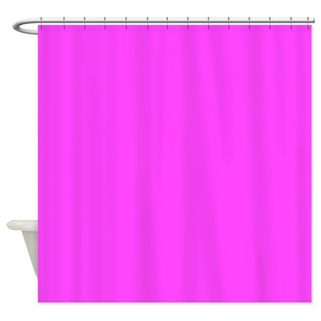Solid Bright Pink Curtain For Your Shower Source Hot By TheShowerCurtain