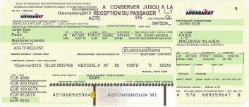 Faux billet d 39 avion invitation pinterest invitation - Modele billet avion a imprimer ...