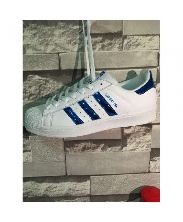 chaussures de sport d9324 957c0 Adidas Superstar Junior White Blue Iridescent Shoes | adidas ...