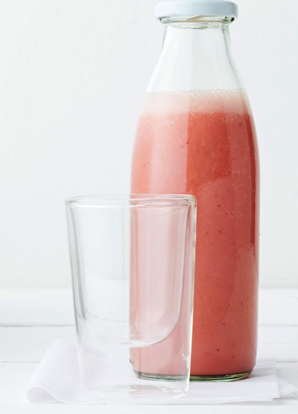 Smoothie mit Melone und Erdbeer | Recipe | Smoothies, Milchgetränke ...