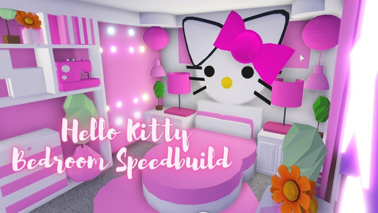 Hello Kitty Bedroom Speedbuild Roblox Adopt Me Youtube Hello Kitty Bedroom Cat Bedroom Hello Kitty