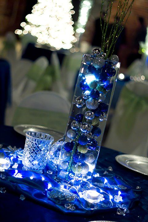 Blue And Silver Winter Wedding Wedding Decorations