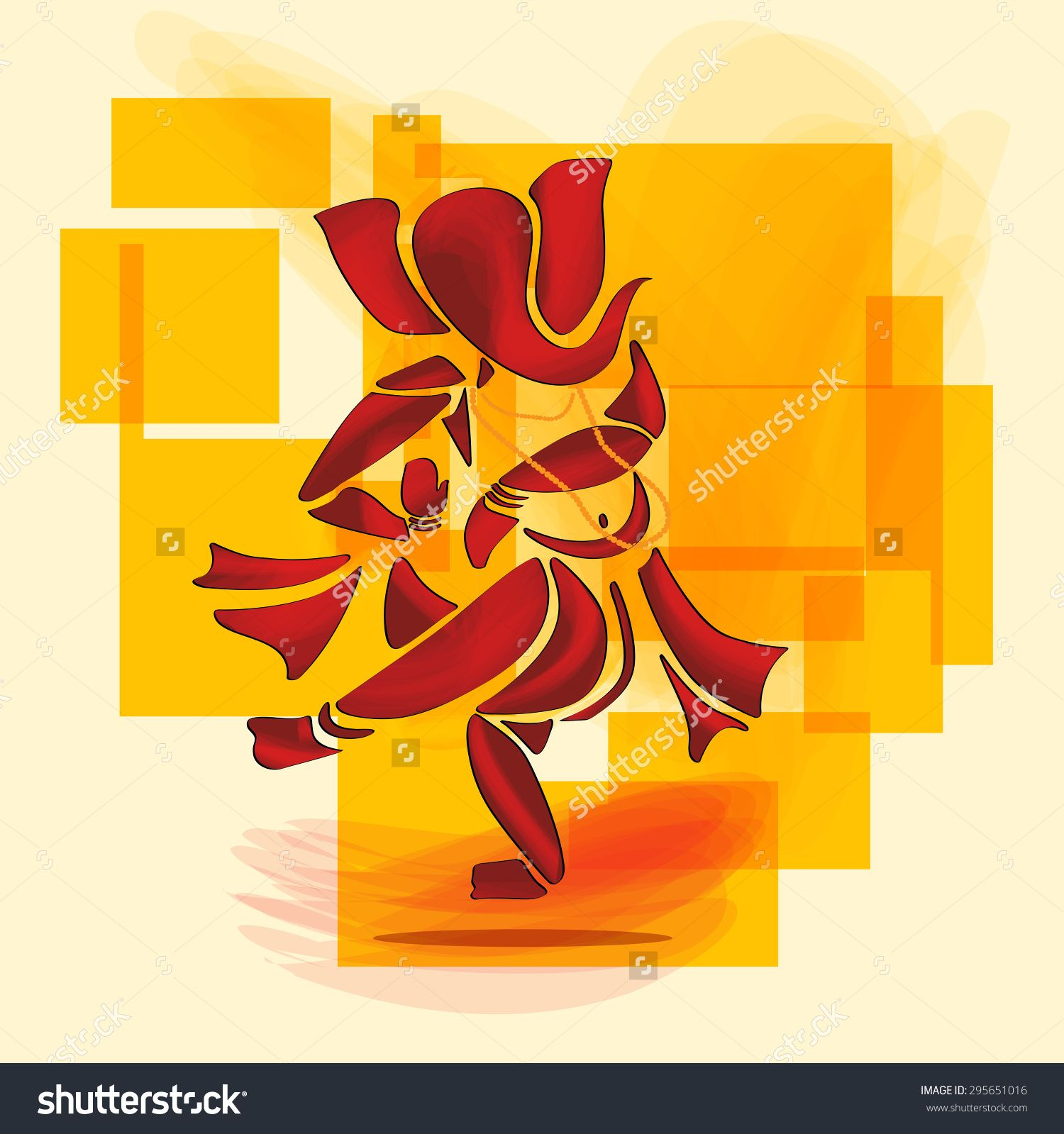 Lord ganesha multi color painting hd image - Ganesha Or Ganesh Hindu God Dance In Watercolor Painting Style