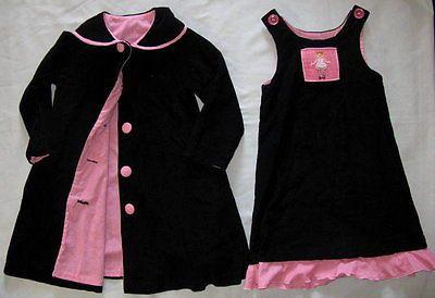 Boutique Beaux ET Belles 3 4 3T 4T Smocked Cord Dress Coat SET Princess Pink   eBay