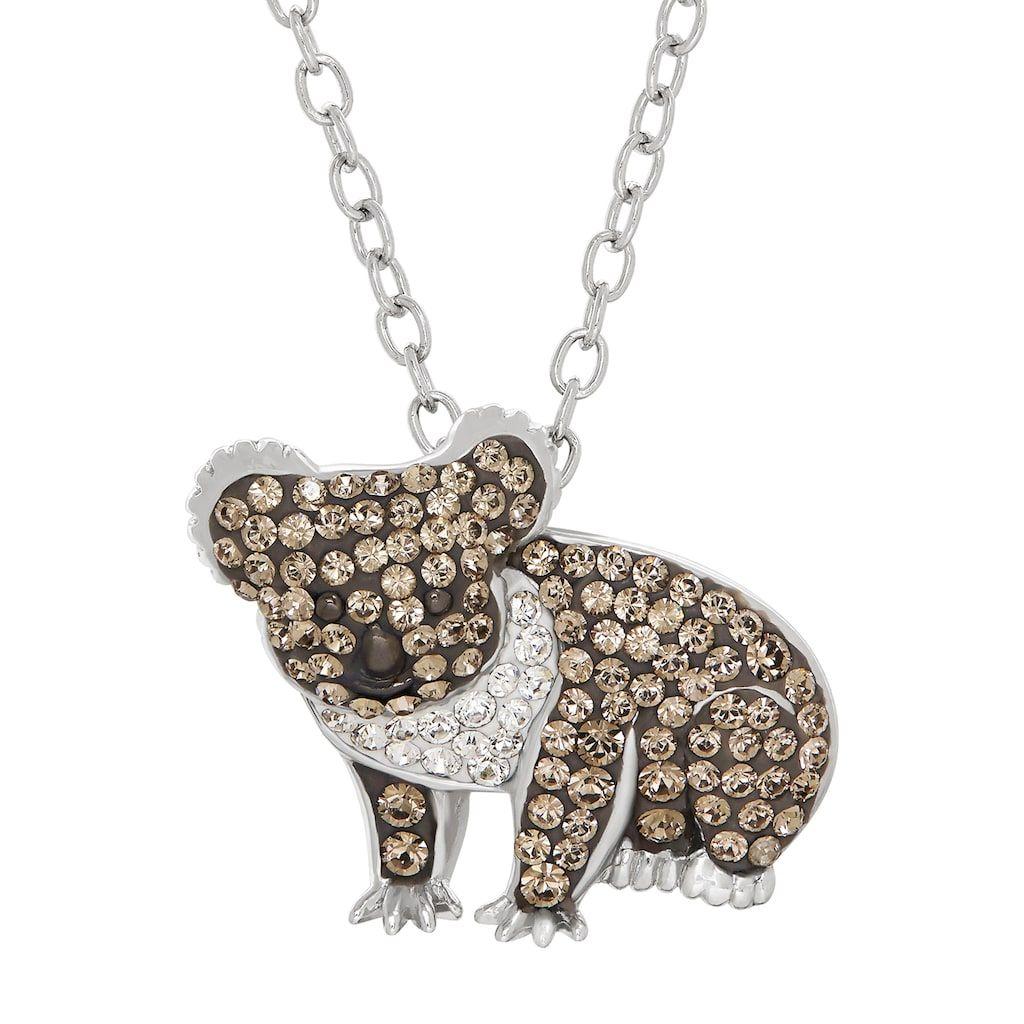 Fashion Cute Printing Enamel Animal Dog Elephant Pendant Necklace Christmas Gift