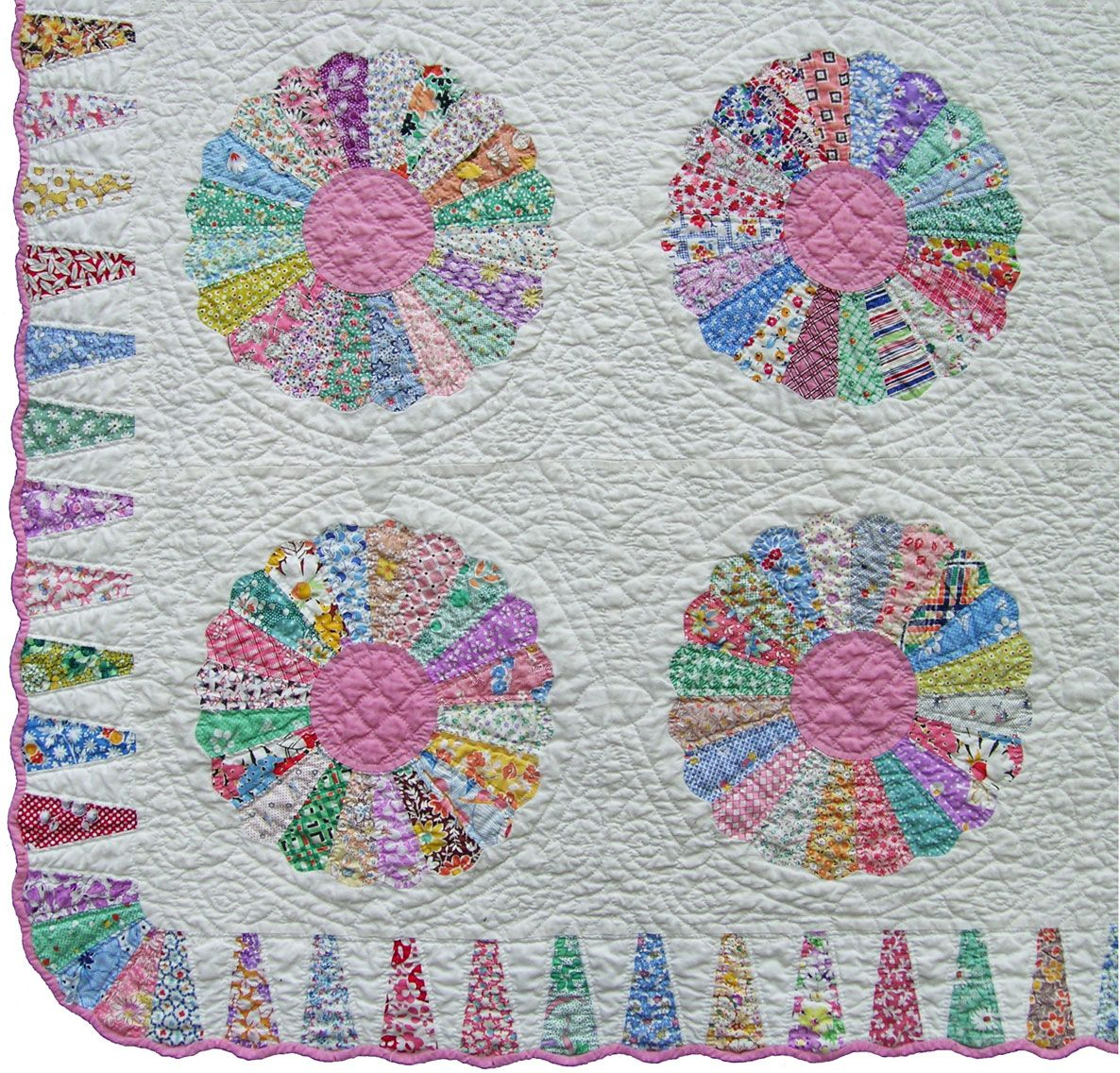 Love This Ice Cream Cone Border Dresden Plate Quilts