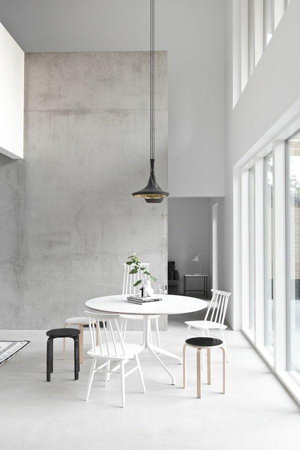wände streichen betonoptik esszimmer Ideen rund ums Haus - interieur bodenbelag aus beton haus design bilder