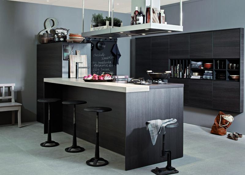 Mooie manier van afzuigkap verwerken met plank keukens pinterest afzuigkap keukens en - Plank keuken opslag ...