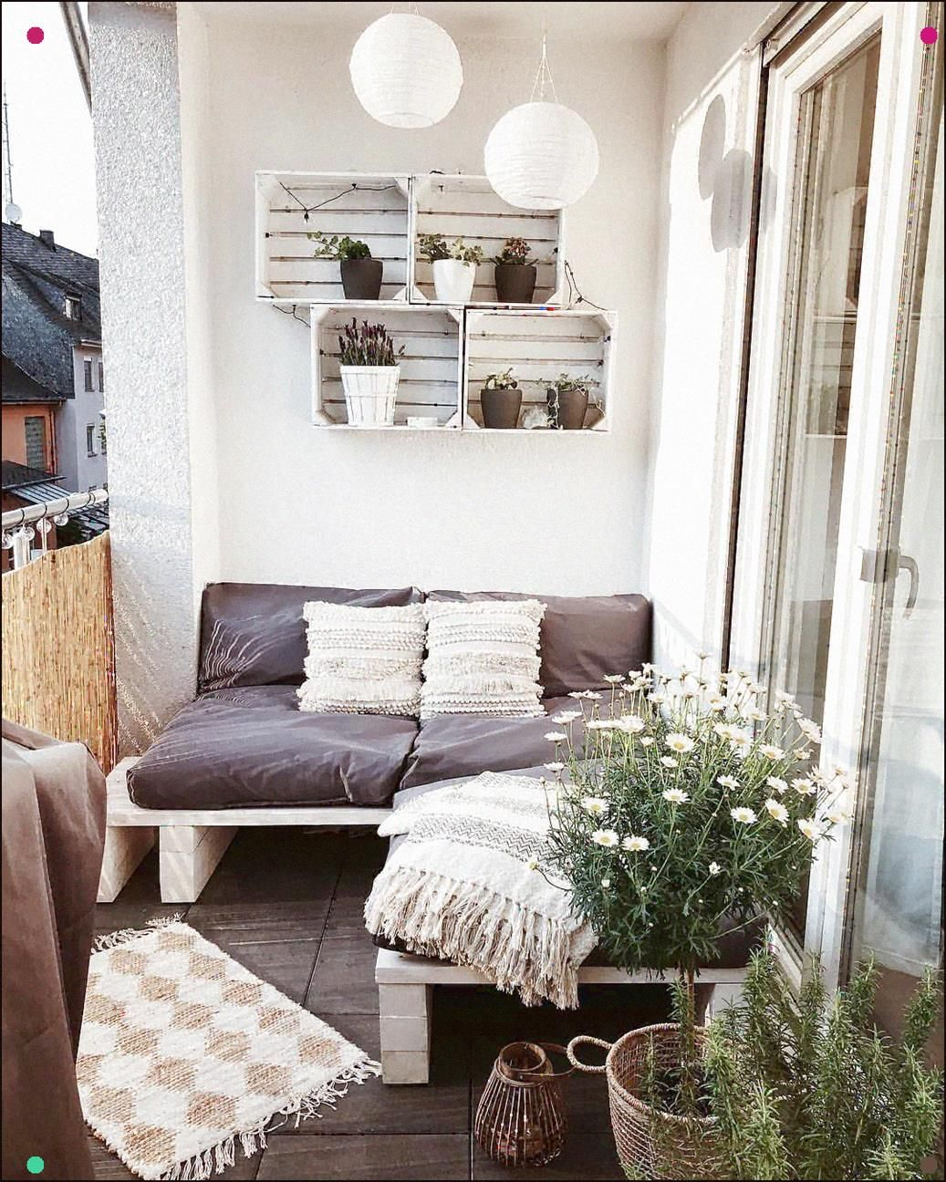Unser Kleiner Aber Feiner Balkon . . . #Smallbalcony #Balcony #Balconydecor #Balkonien #Decoration #Homedecor #Home #Homesweethome #Today