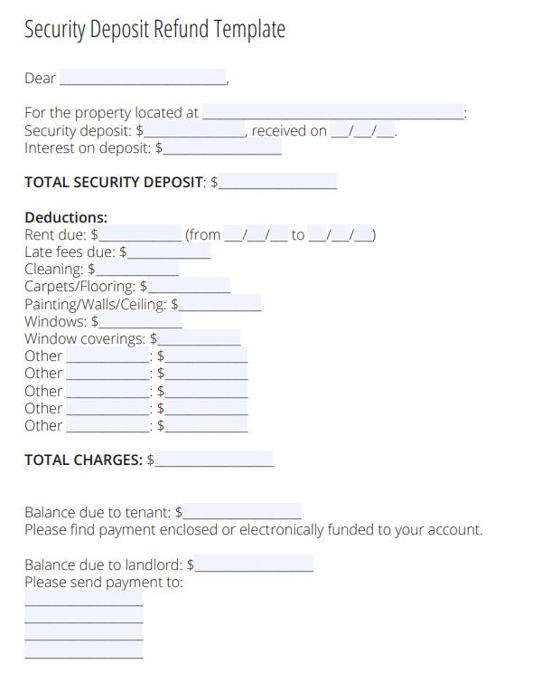Security Deposit Return Letter Zillow Rental Manager Being A Landlord Deposit Rental