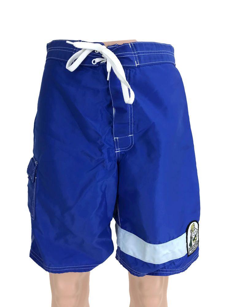 ffb3805e60 Vintage Kanvas by Katin Blue Surf Trunks Boardshorts Shorts Made in USA  Men's 30 #KanvasbyKatin #BoardShorts