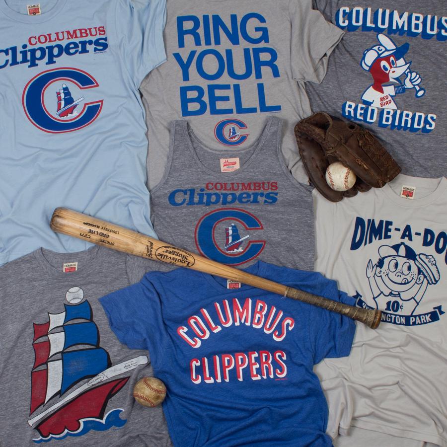 Design your own t shirt columbus ohio - Homage Columbus Clippers Baseball Minor League Baseball T Shirts