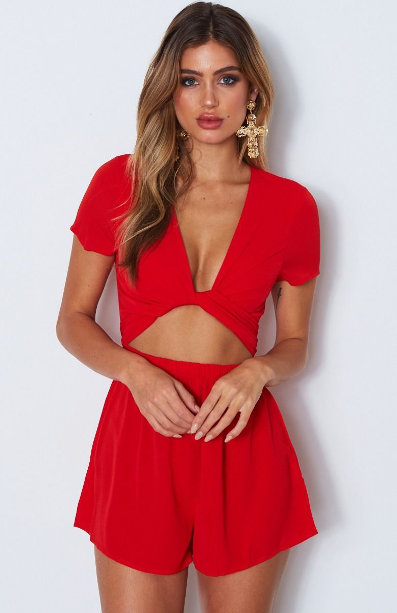 0fa844a4d0 Instant Crush Playsuit Red