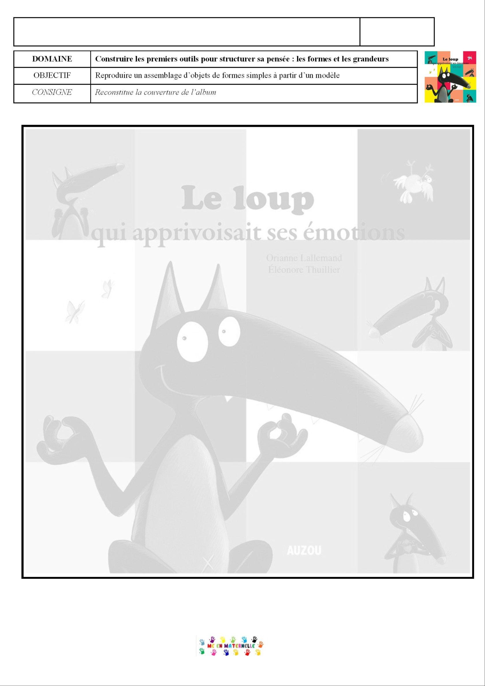 Le Loup Qui Apprivoisait Ses Emotions : apprivoisait, emotions, Apprivoisait, émotions, Puzzle, Couverture, Maternelle, Loup,, Émotions,, Émotions