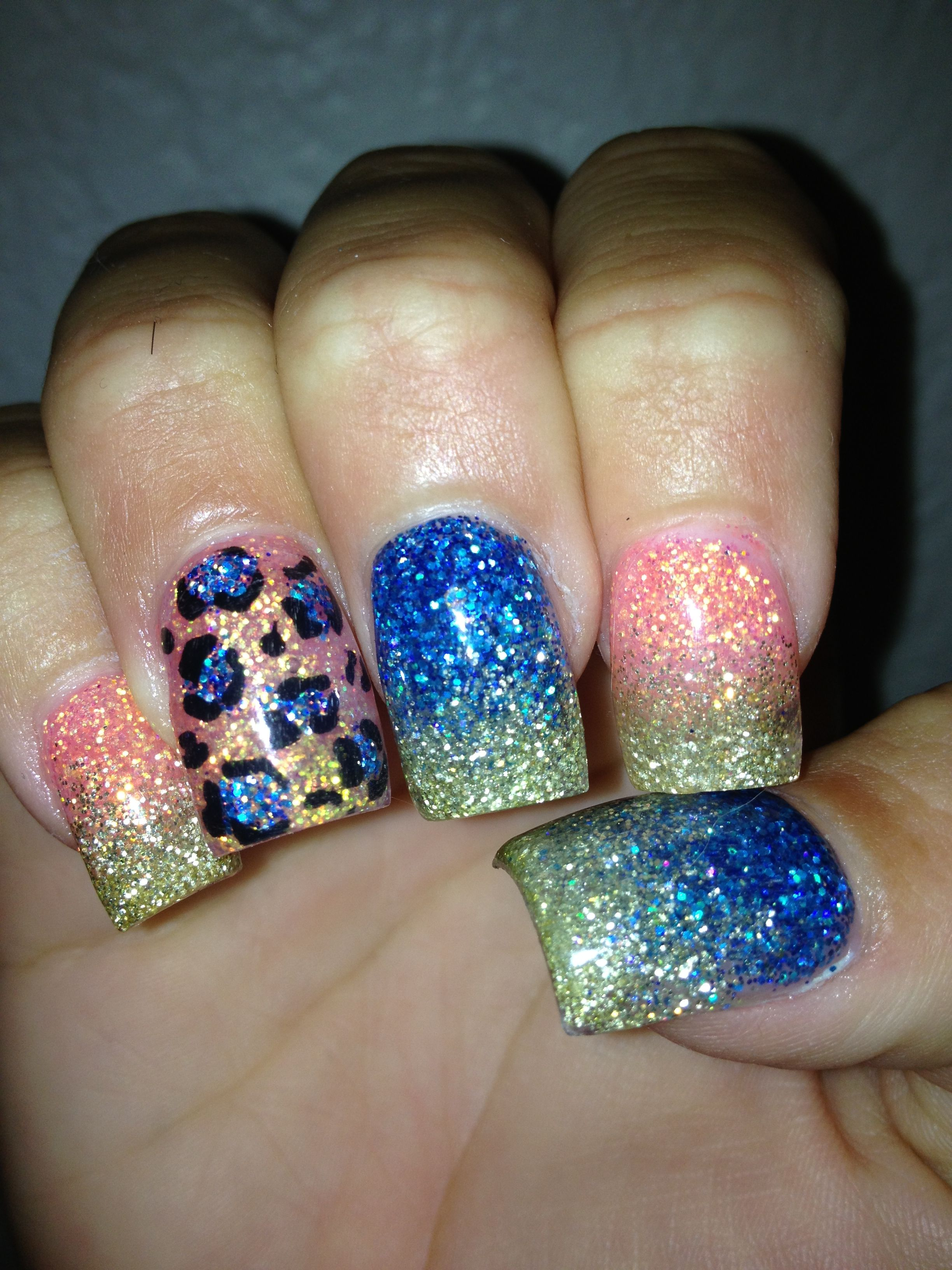 Ombré Leopard Nails! Perfect for spring! Leopard nails