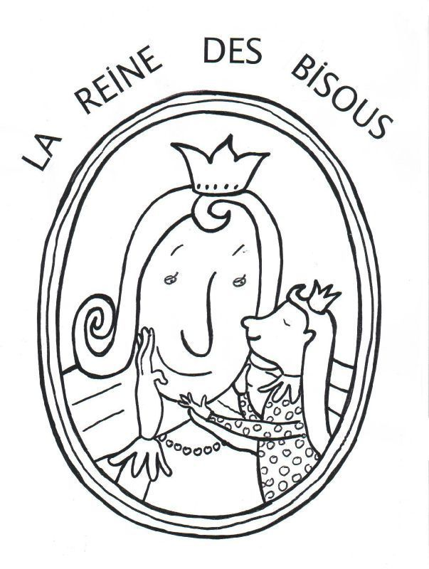 La reine des bisous coloriage roi et reine pinterest - Bisous dessin ...