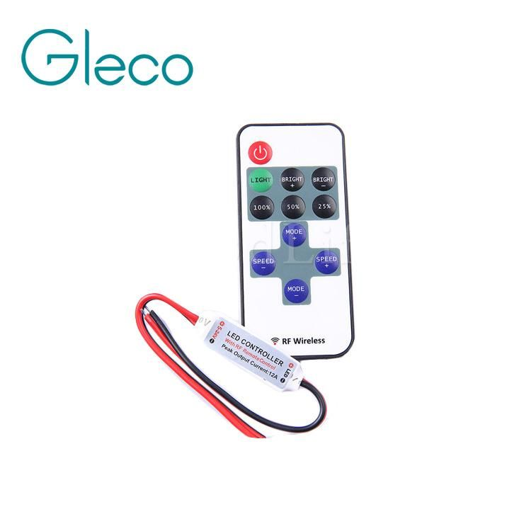 Visit To Buy Mini Rf Remote Control Led Dimmer 5v 12v 24v 11key For Single Color Led Strip 5050 3528 5630 5730 2835 Led Strip Lighting Led Dimmer Led Color