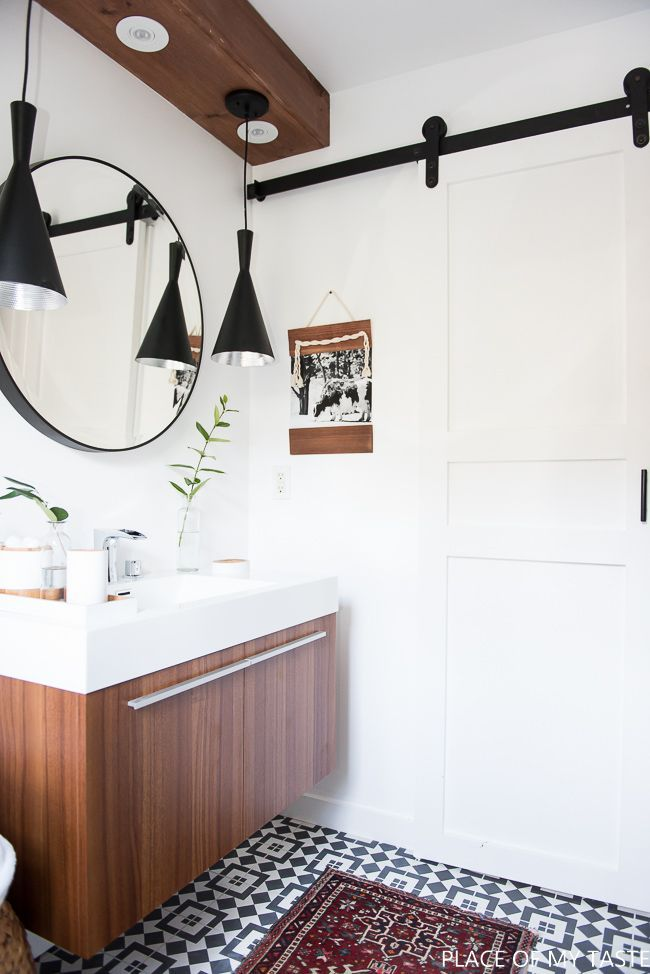 Makeover Of The Guest Bathroom In A Very Cool Style Challenge Week - Beautiful bathroom makeovers