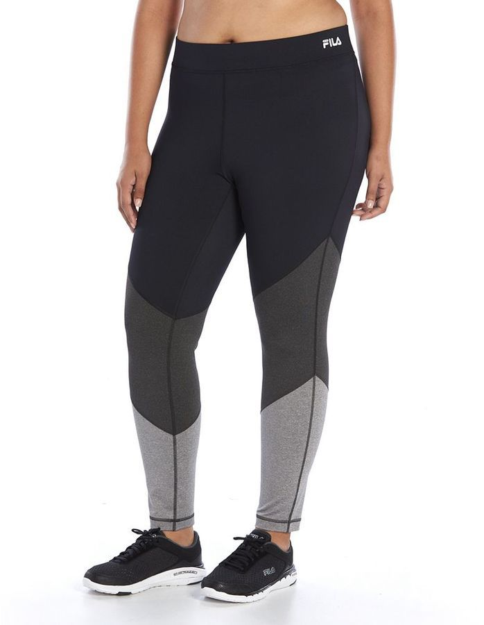Plus Size FILA SPORT® Tonal Colorblock Leggings ** Check out the image by  visiting