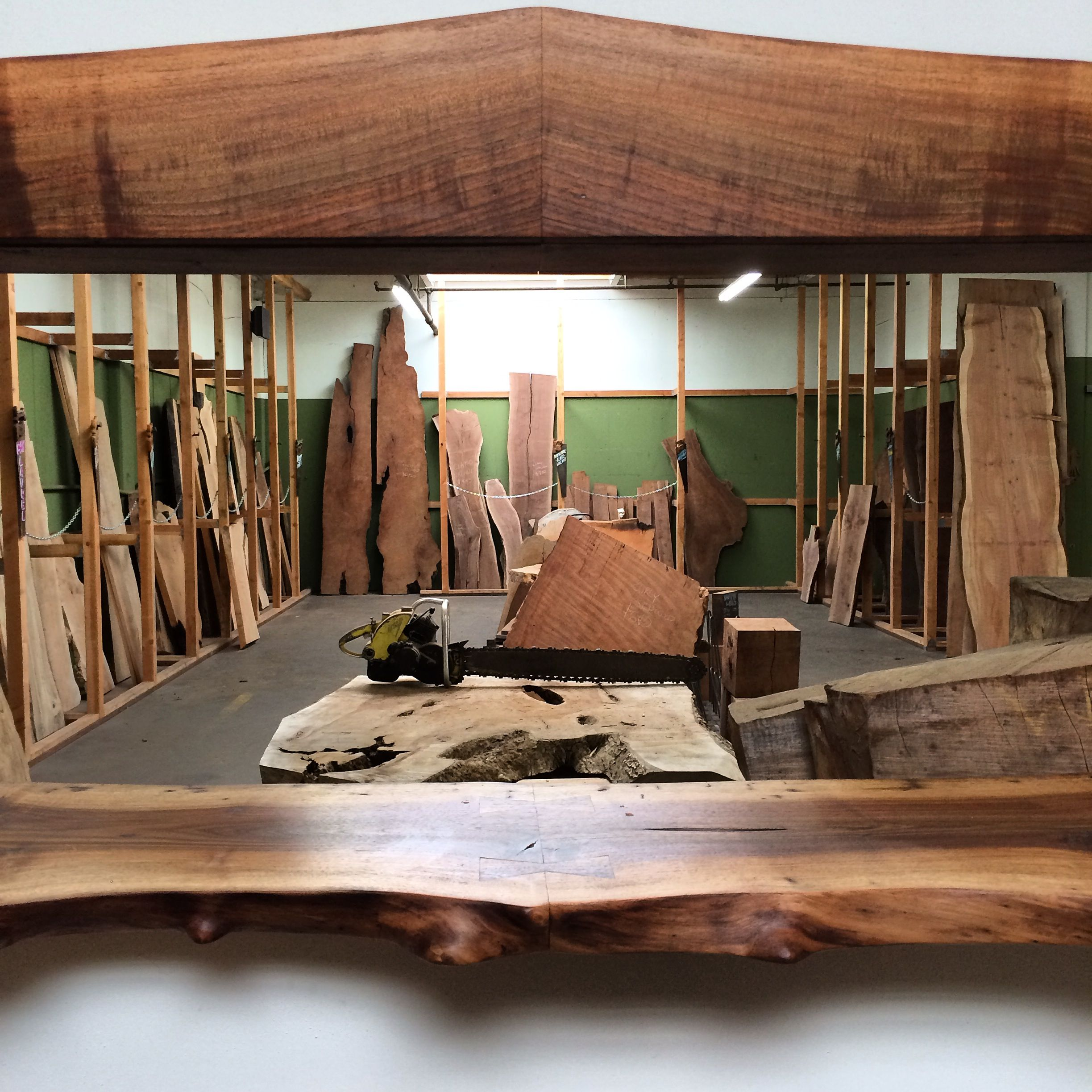 City Joinery Spalted Maple slabs about to be e conference table