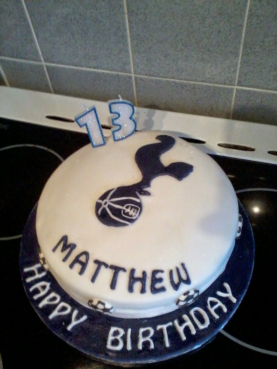 Tottenham Hotspur Birthday Cake Birthday Cake Cake Cake Decorating