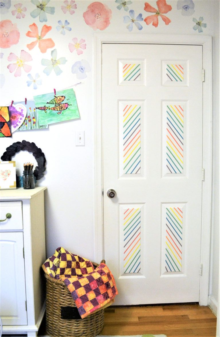 Door Decorating Idea Decorate a Door with Washi Tape  Déco