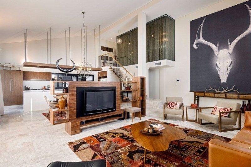 Eingerichtete wohnzimmer ~ Kilim im eklektisch eingerichteten wohnzimmer wohnzimmerideen