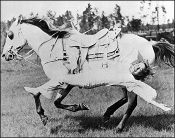 love this photo....you have to love those old west cowgirls!!!! Great story too on barrel racing-