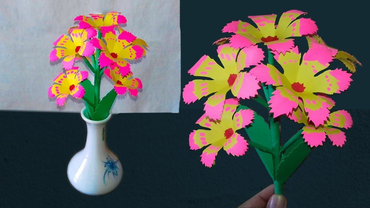 Beautiful idea Paper Flowers Simple paper flowers DIY Paper Artist