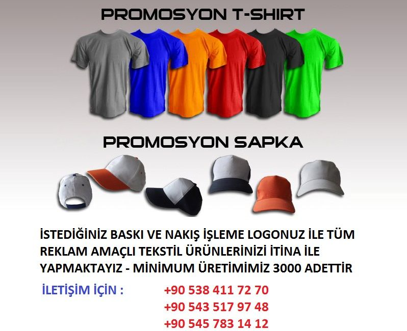 promosyon şapka tişört imalat toptan yapan tekstil firması