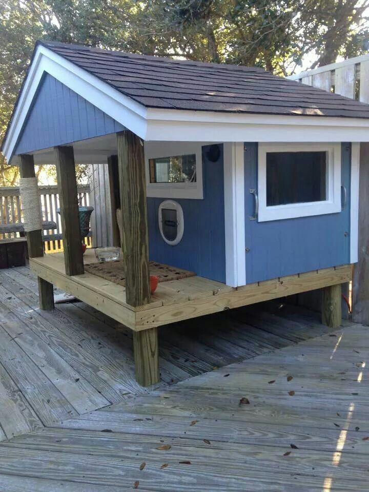 Outdoor Cat House Design Plans: Pin By Jennifer McBeth On DIY: Cat Enclosures