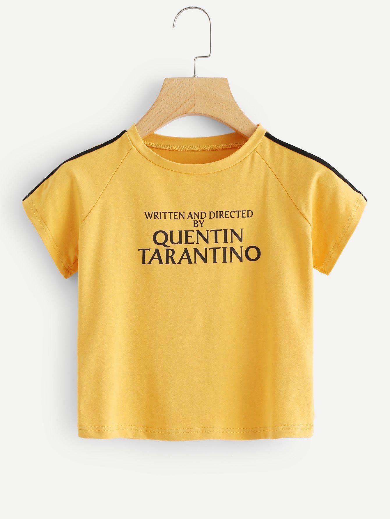 08b98b0cfb8eb Written and directed by Quentin Tarantino crop top shirt. Crop Top Shirts