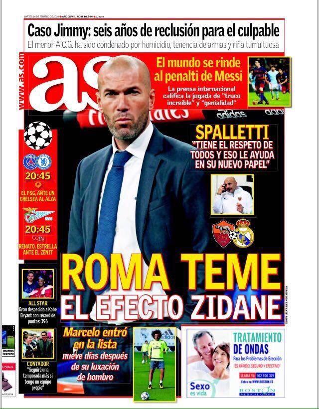 LaLiga: Buenos días!   Estas son las portadas de la prensa deportiva española este martes 16 de febrero. https://t.co/0z5m49ixfV #LigaEsp