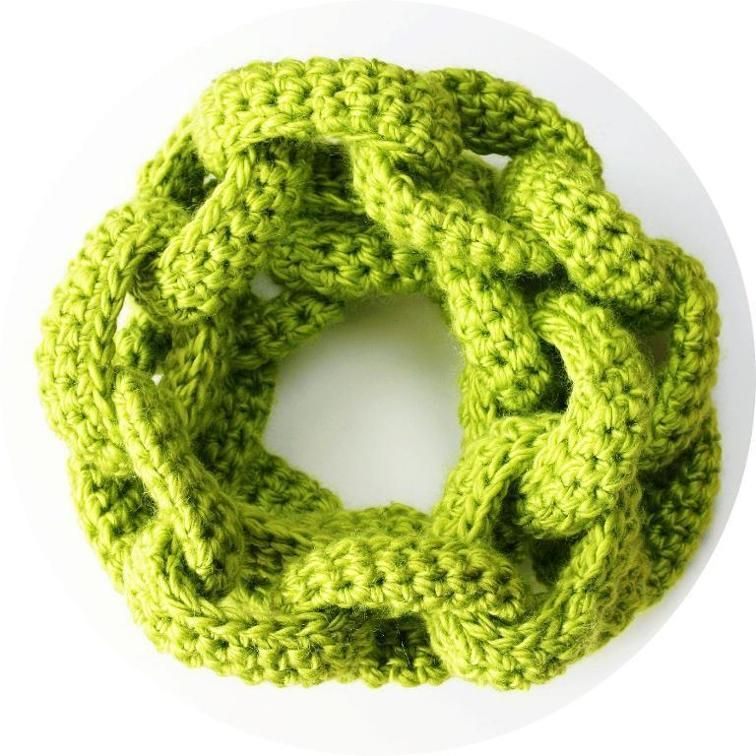 Crochet Chain Link Scarf Crochet Chain Crocheting Patterns And