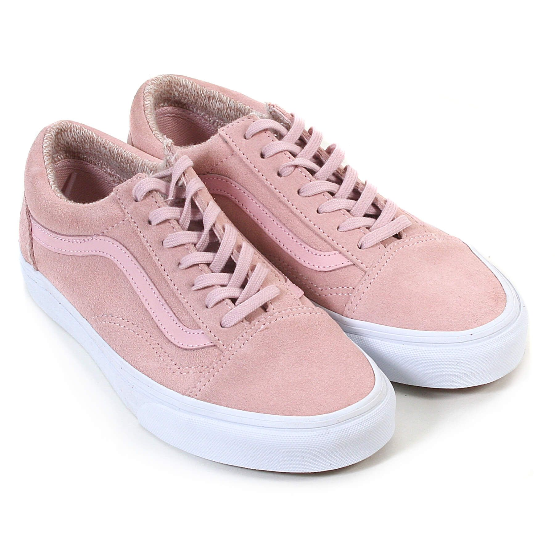 Vans Women's Old Skool Suede Lace Up Trainer Peach Skin