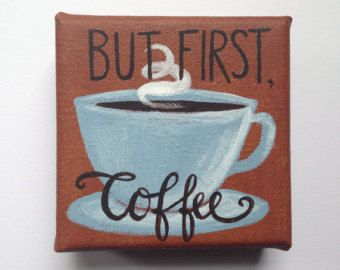 Painting of coffee   Etsy
