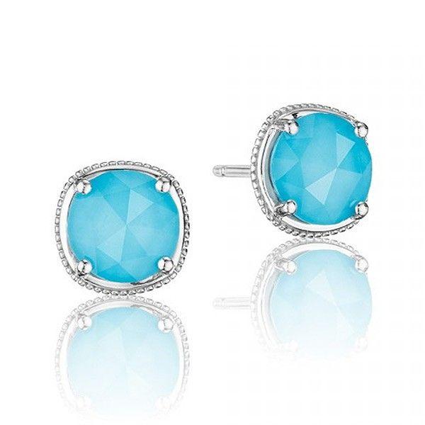 Tacori Island Rains Sterling Silver Neolite Turquoise Stud Earrings