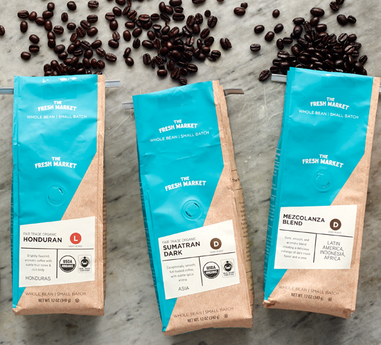 The Fresh Market Premium Coffee Packaging Design