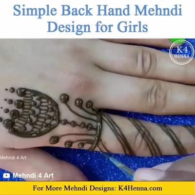 Photo of Easy Back Hand Mehndi Design For Beginners