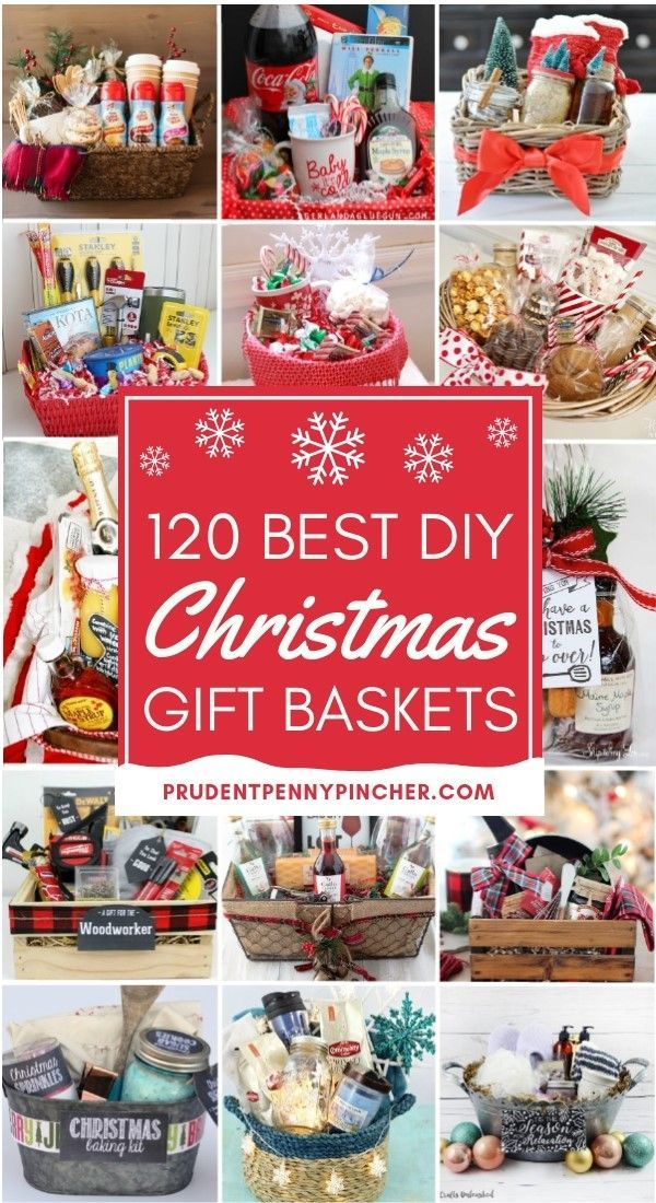 120 DIY Christmas Gift Baskets #diychristmasgifts
