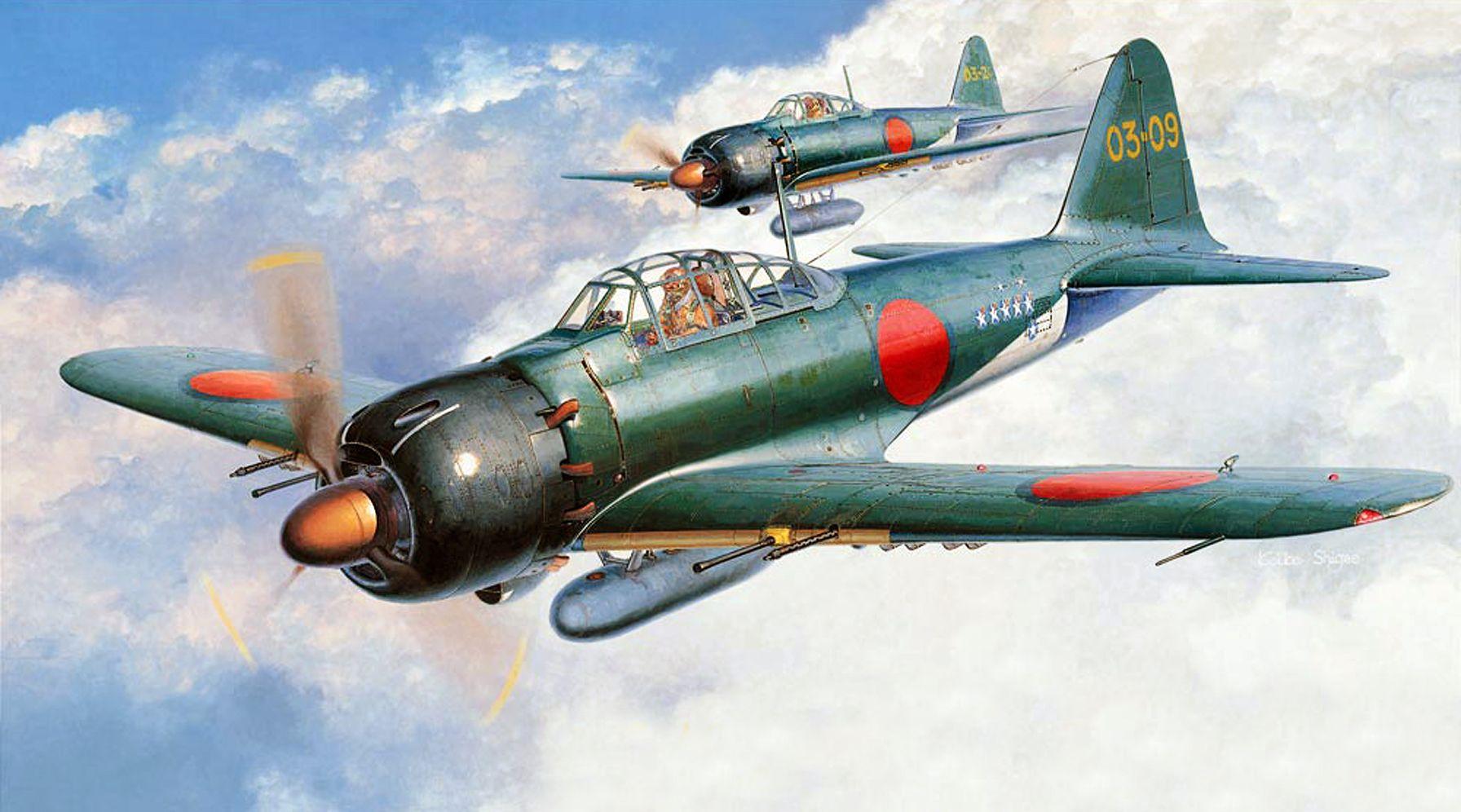 Mitsubishi A6m5 Zero By Shigeo Koike 戦闘機 零式艦上戦闘機 軍用機