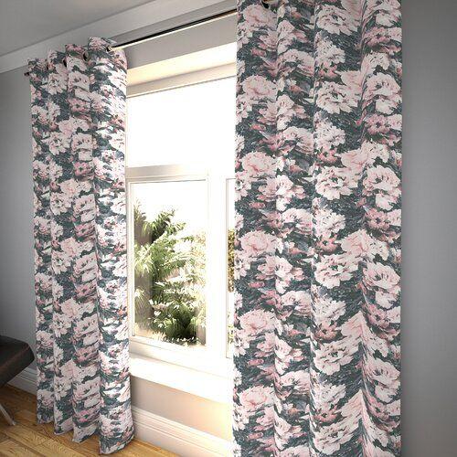 Fleur De Lis Living Vorhang-Set Ethridge mit Kräuselband, blickdicht | Wayfair.de