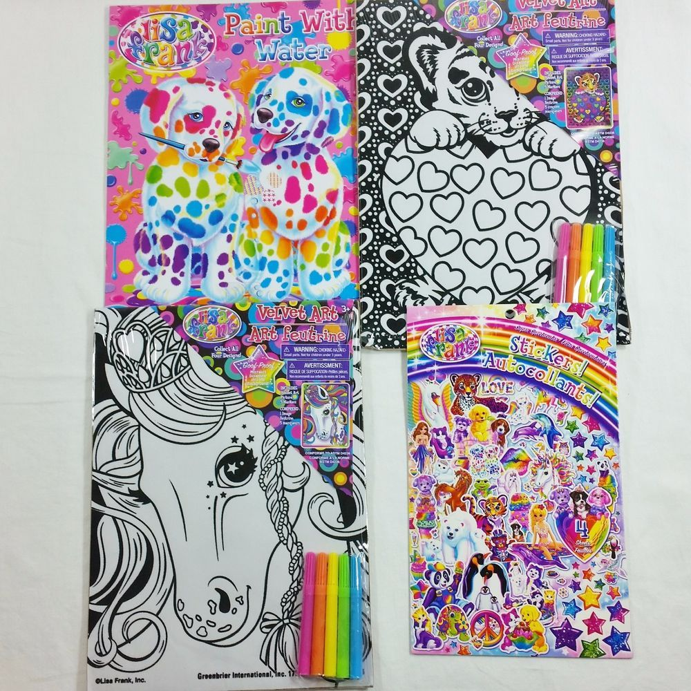 Gallery Lisa Frank Velvet Art Peace Heart With 5 Non toxic Markers Ages 3 for sale online   eBay is free HD wallpaper.