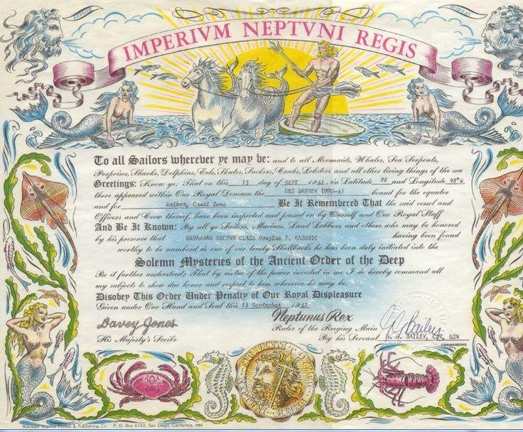 shellback certificate Shellback Certificate United States Navy - us navy address for resume