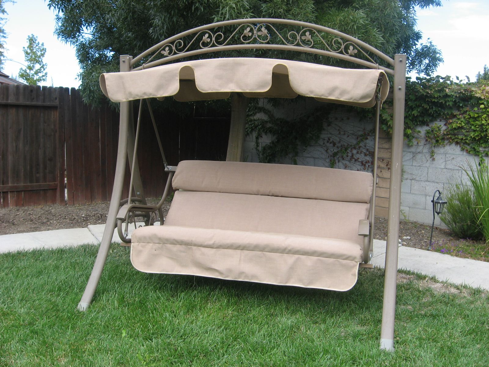 Swingcushioncovers Com Replacement Canopy And Cushion In Mocha