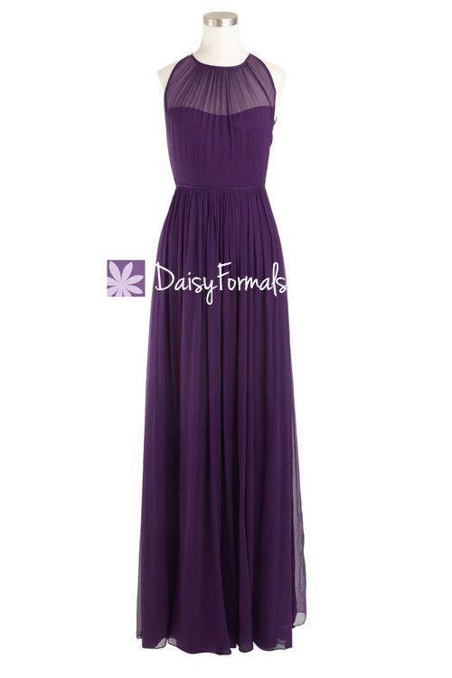 Vintage Dark Purple Bridesmaid Dresses