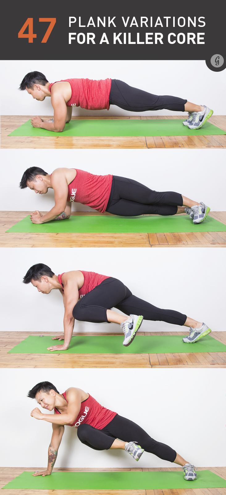 47 Crazy Fun Plank Variations Exercise Plank Variations Fitness